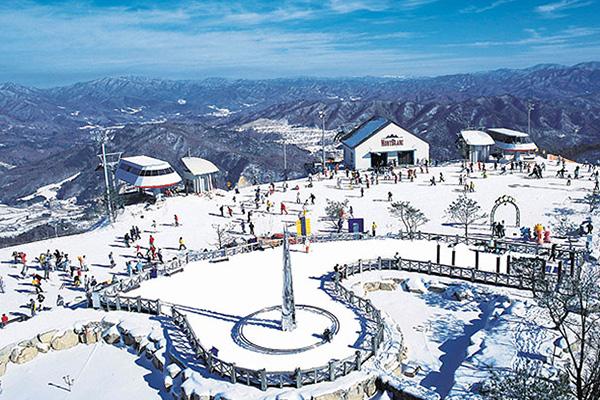 สรรค์ของนักเล่นสกียงเพียงรีสอร์ต เมืองคังวอน ประเทศเกาหลีใต้